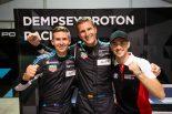 LM-GTEアマクラスのポールシッターとなったデンプシー・プロトン・レーシングの(左から)マット・キャンベル、クリスチャン・リード、ジュリアン・アンドロウアー