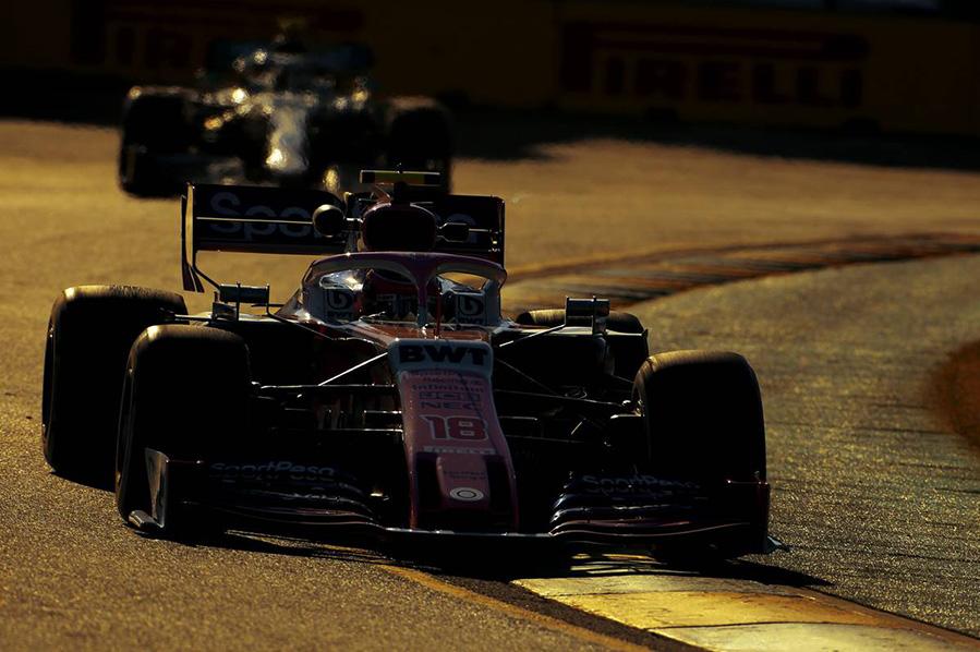 2019年F1第1戦オーストラリアGP金曜フリー走行 ランス・ストロール(レーシングポイント)