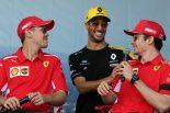 F1   セバスチャン・ベッテル、シャルル・ルクレール、ダニエル・リカルド