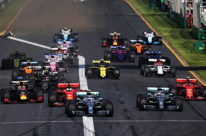 2019年F1第1戦オーストラリアGP 決勝レーススタート