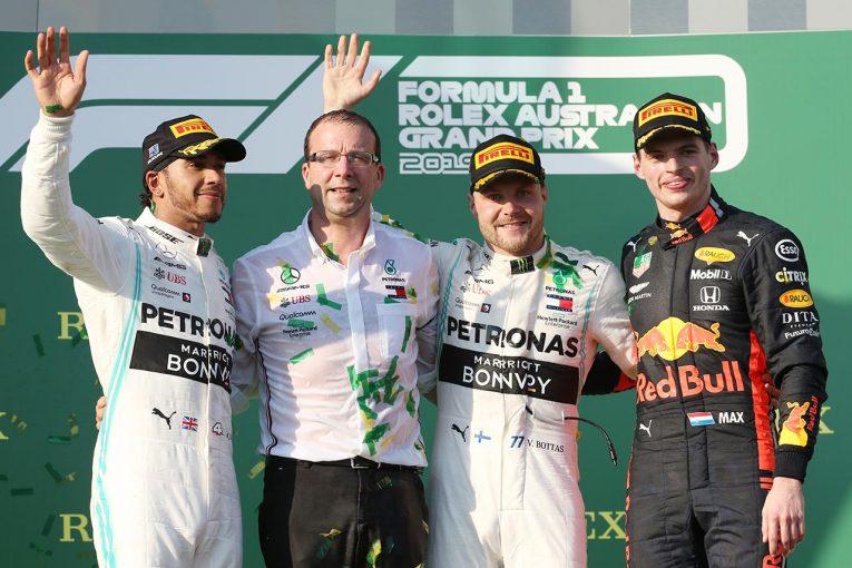 F1 | ホンダF1、11年ぶりの3位表彰台を獲得! フェルスタッペンがベッテルを見事なオーバーテイク。開幕戦優勝はボッタス