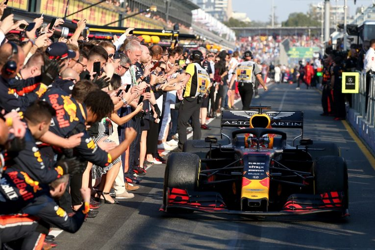 F1   ホンダ田辺TD「復帰後初の表彰台で一歩踏み出せた。一方で、トップに立つにはまだパフォーマンス不足と実感」:F1オーストラリアGP日曜