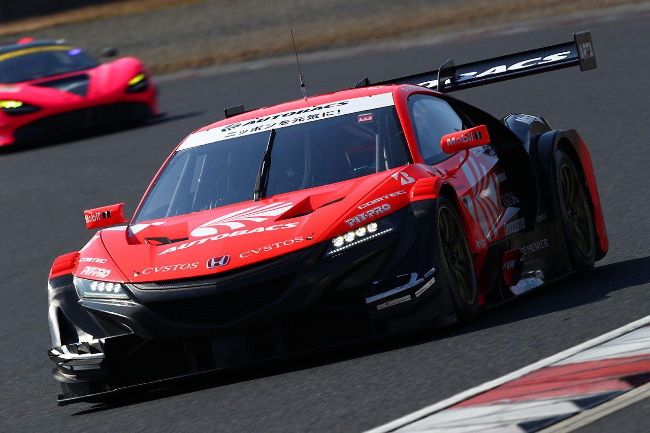 スーパーGT岡山公式テスト:ロング主体の2日目午後はWAKO'S LC500がトップ。レクサスが上位占める