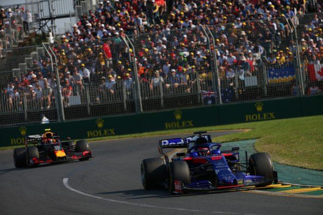 2019年F1第1戦オーストラリアGP ピエール・ガスリー(レッドブル・ホンダ)を抑え切って10位を獲得したダニール・クビアト(トロロッソ・ホンダ)