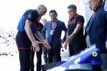 2019年F1開幕戦オーストラリアGP決勝日に激励に駆けつけたホンダの八郷隆弘社長