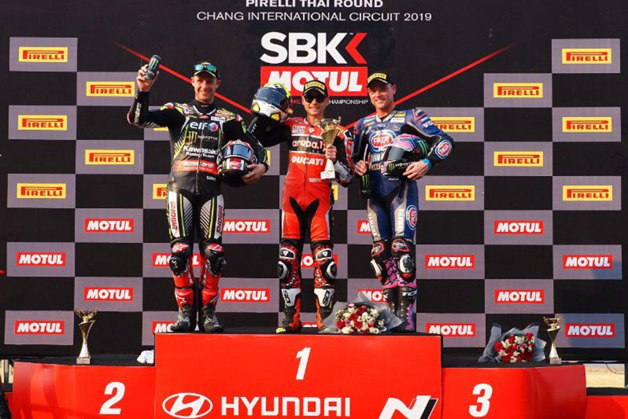 SBK第2戦タイ、ドゥカティのバウティスタが3レースで圧勝。開幕から負け知らずの6連勝果たす