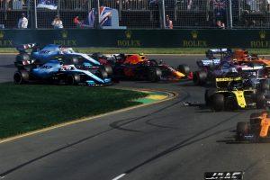 F1 | 2019年F1第1戦オーストラリアGP ロバート・クビサ(ウイリアムズ)とピエール・ガスリー(レッドブル・ホンダ)が接触
