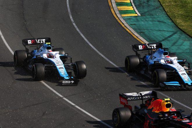 2019年F1第1戦オーストラリアGP ピエール・ガスリー(レッドブル・ホンダ)との接触でロバート・クビサ(ウイリアムズ)のウイングが破損