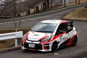 ラリー/WRC | 新城ラリー2019のJN2クラスを制した眞貝知志/安藤裕一組(TGR Vitz GRMN Rally)