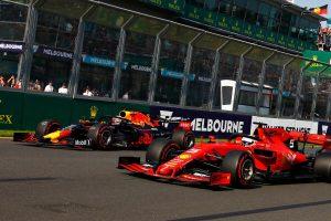 F1 | 2019年F1第1戦オーストラリアGP マックス・フェルスタッペン(レッドブル・ホンダ)とセバスチャン・ベッテル(フェラーリ)