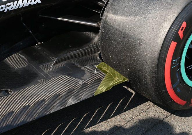 F1 | メルセデスW10、フロアの強度に問題か。補強箇所が決勝で破損した可能性