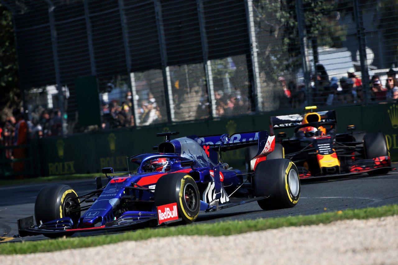 2019年F1オーストラリアGP クビアト(トロロッソ・ホンダ)とガスリー(レッドブル・ホンダ)