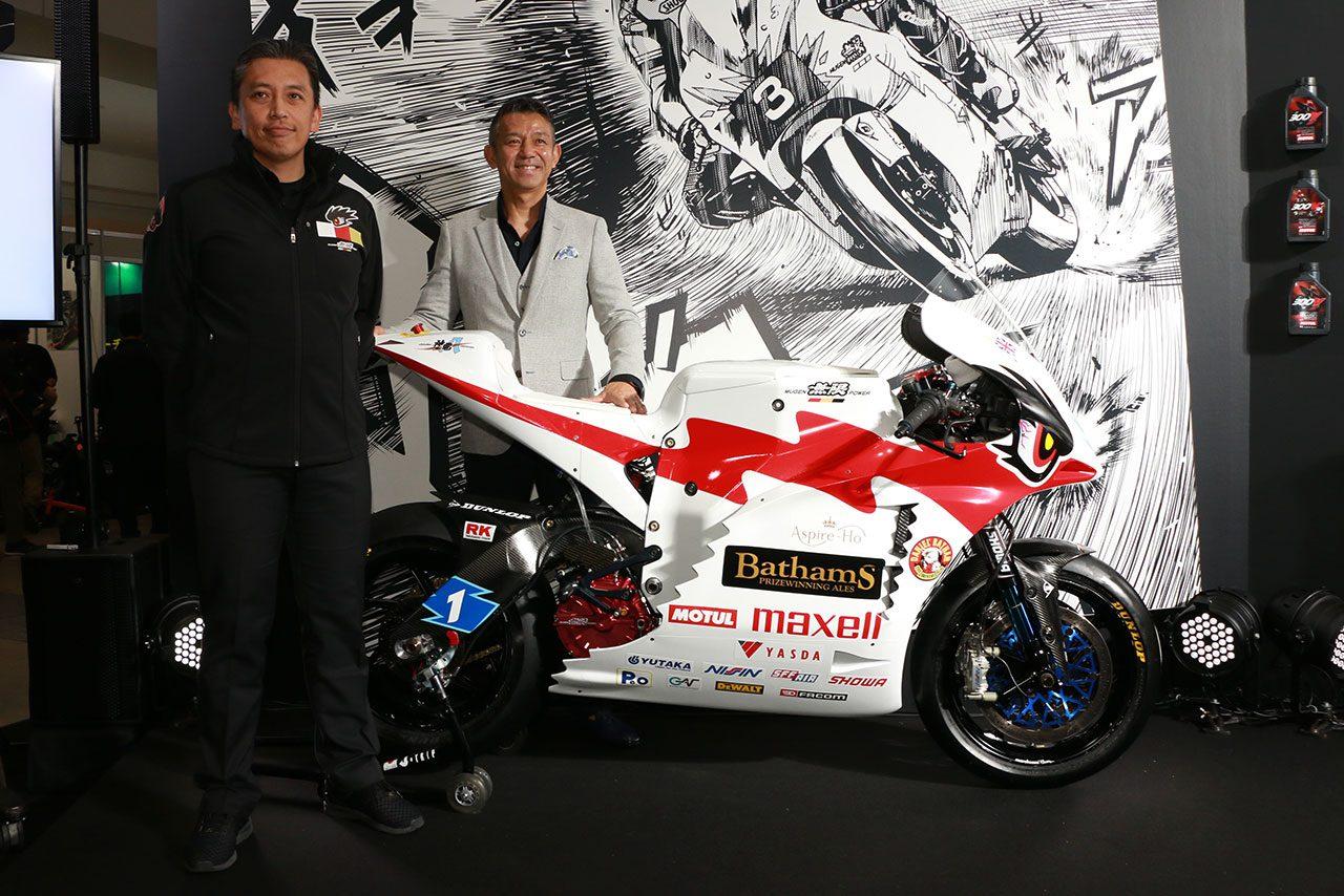 TEAM MUGEN、マン島TT6連覇へ。東京モーターサイクルショーで2019年マシン『神電 八』をお披露目
