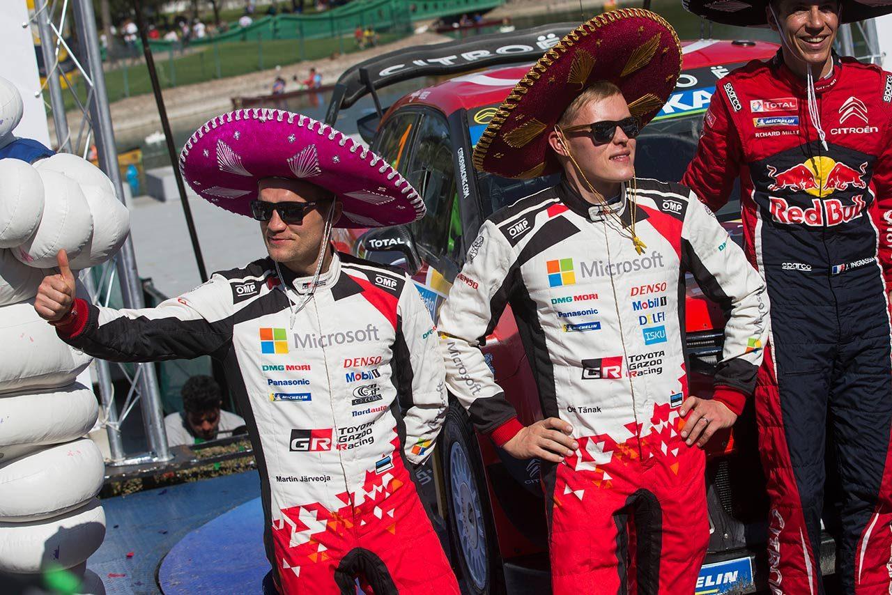 第3戦メキシコで表彰台を獲得したオット・タナク(右)