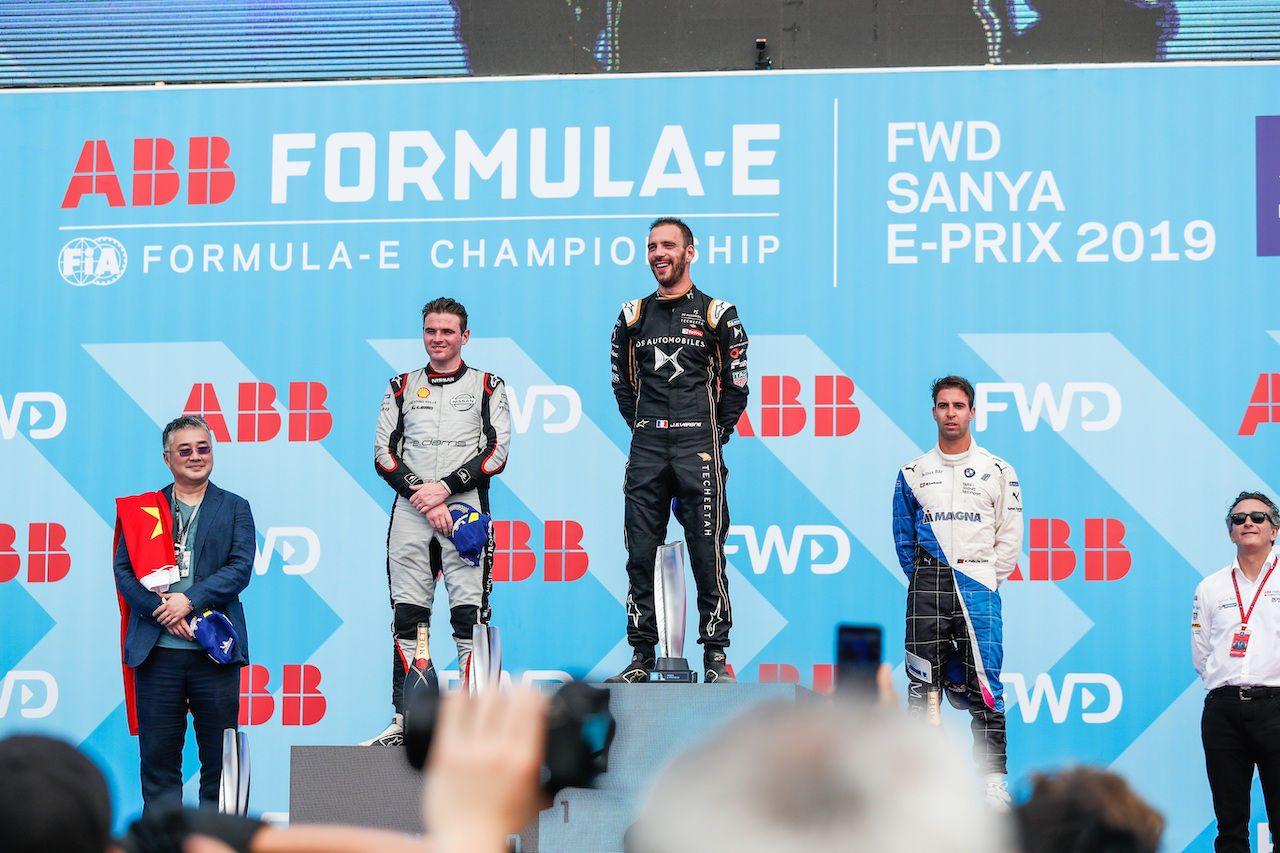 フォーミュラE第6戦三亜:ローランドが2位フィニッシュでニッサン初の表彰台、優勝はベルニュ