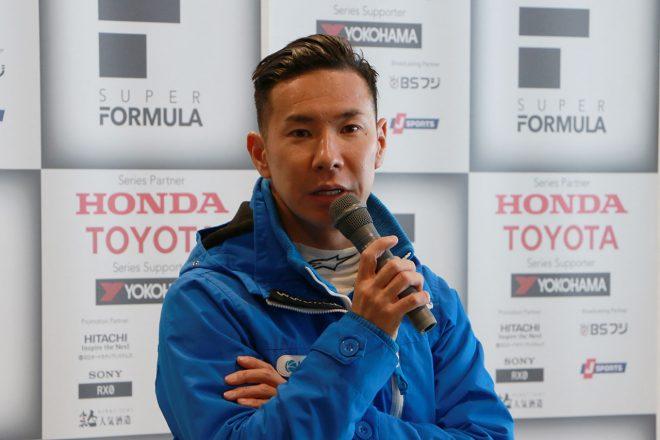 2019年スーパーフォーミュラについて目標を語る小林可夢偉(carrozzeria Team KCMG)