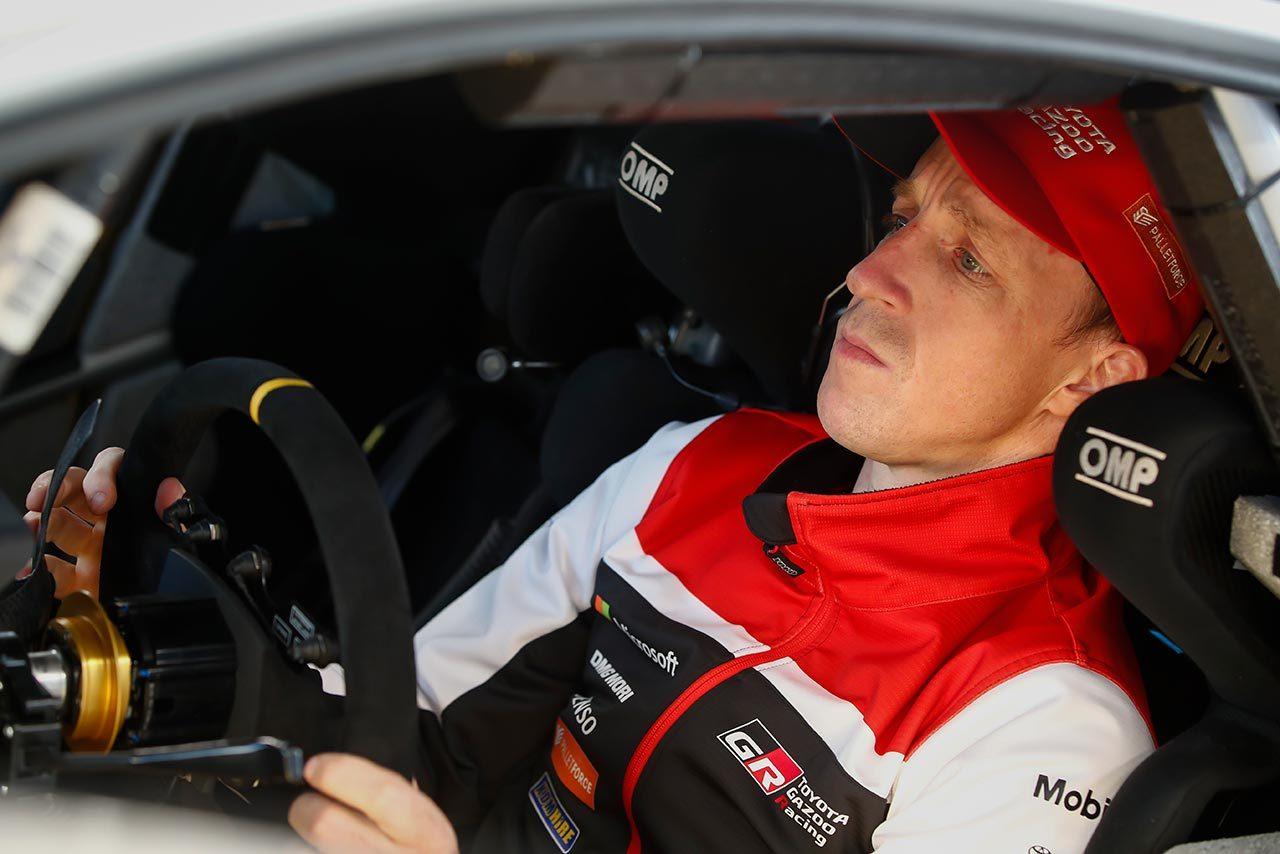 シェイクダウンでトップタイムを記録したクリス・ミーク(トヨタ・ヤリスWRC)