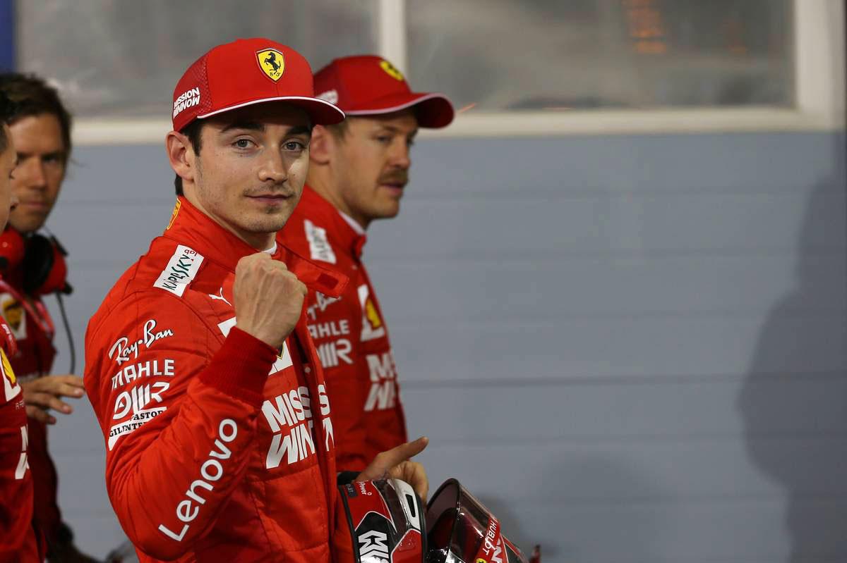 F1バーレーンGP予選:跳ね馬復活、ルクレールが自身初のポールを獲得、レッドブル・ホンダのフェルスタッペンは5番手