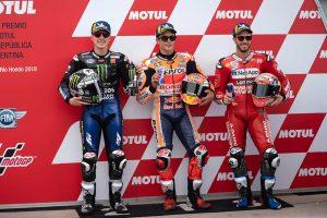 MotoGP | ポール獲得のマルケス「レースペースに満足」/MotoGP第2戦アルゼンチンGP 予選トップ3コメント