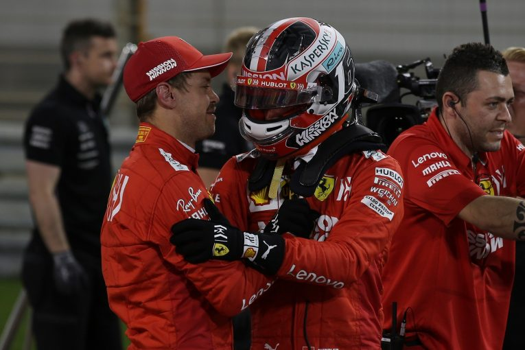 F1   ルクレール、ベッテルに0.3秒差をつけ初ポール「偉大なチームメイトに勝てて最高にうれしい。決勝でも首位を守りたい」:フェラーリ F1バーレーンGP土曜