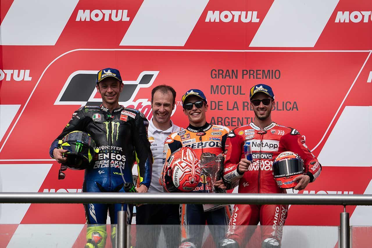 完全勝利を飾ったマルケス「すごく満足のいく週末だった」/MotoGP第2戦アルゼンチンGP 決勝トップ3コメント