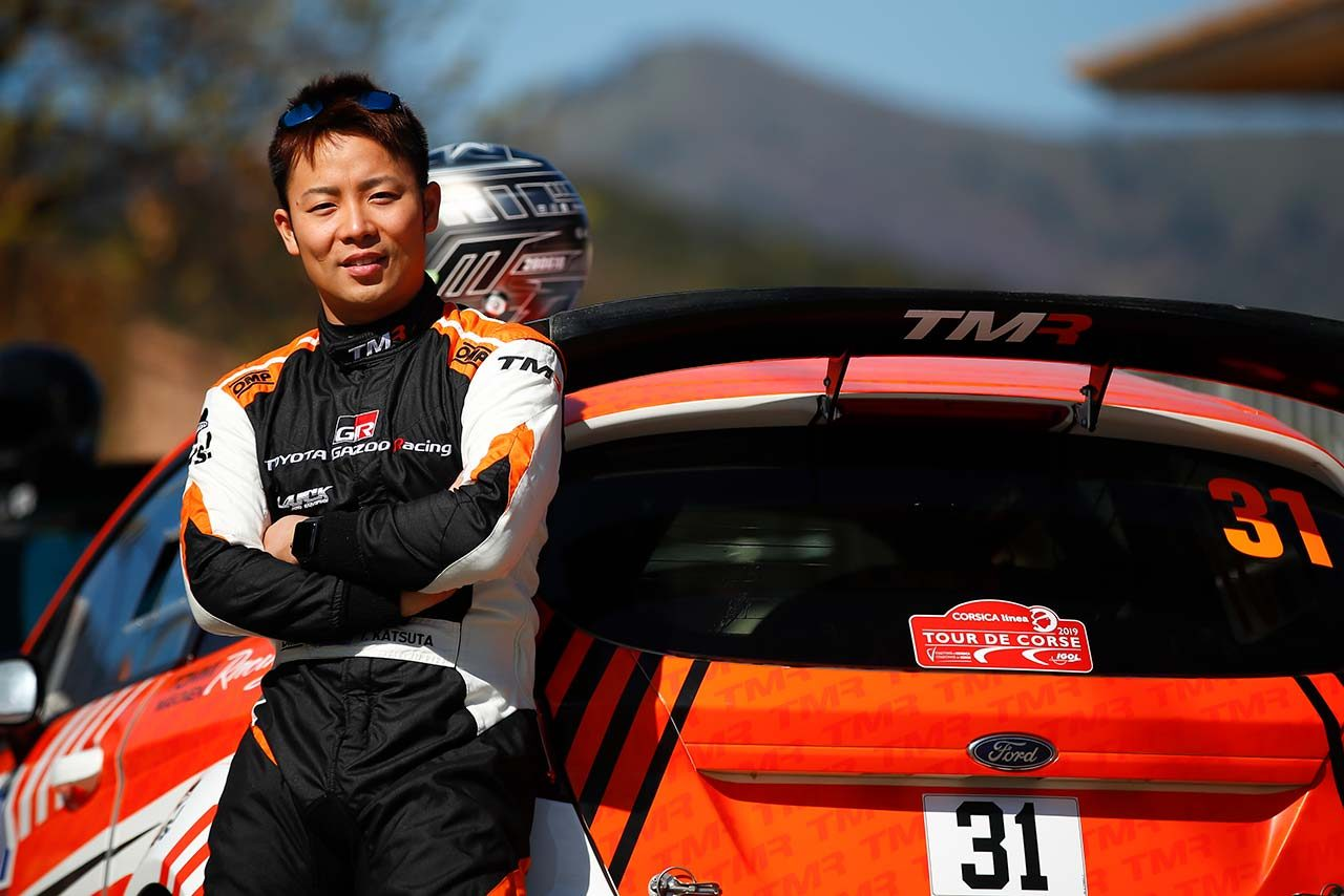 TOYOTA GAZOO Racingラリーチャレンジプログラムに参加している勝田貴元(フォード・フィエスタR5)