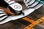 2019年バーレーンF1テスト初日 メルセデス フロントウイング
