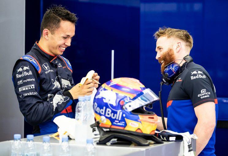 F1   トロロッソ・ホンダのアルボン、最多周回数を記録し、テストを終了「興味深い発見があった。今後のレースに生かしていきたい」