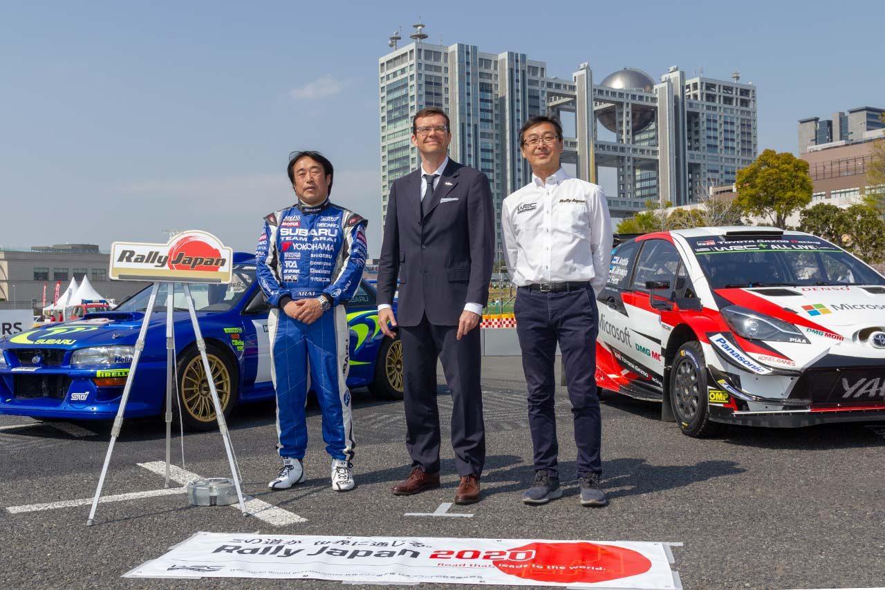 セントラル・ラリー愛知2019の開催発表会には新井敏弘やWRCプロモーターのオリバー・シースラもかけつけた