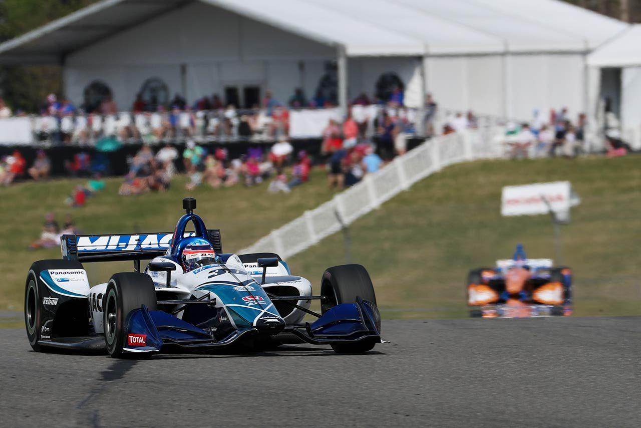 2019年のインディカー第3戦で優勝した佐藤琢磨(レイホール・レターマン・ラニガン・レーシング)