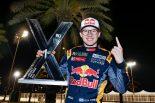 レース後の審議で繰り上がり優勝を果たしたケビン・ハンセン(プジョー208)
