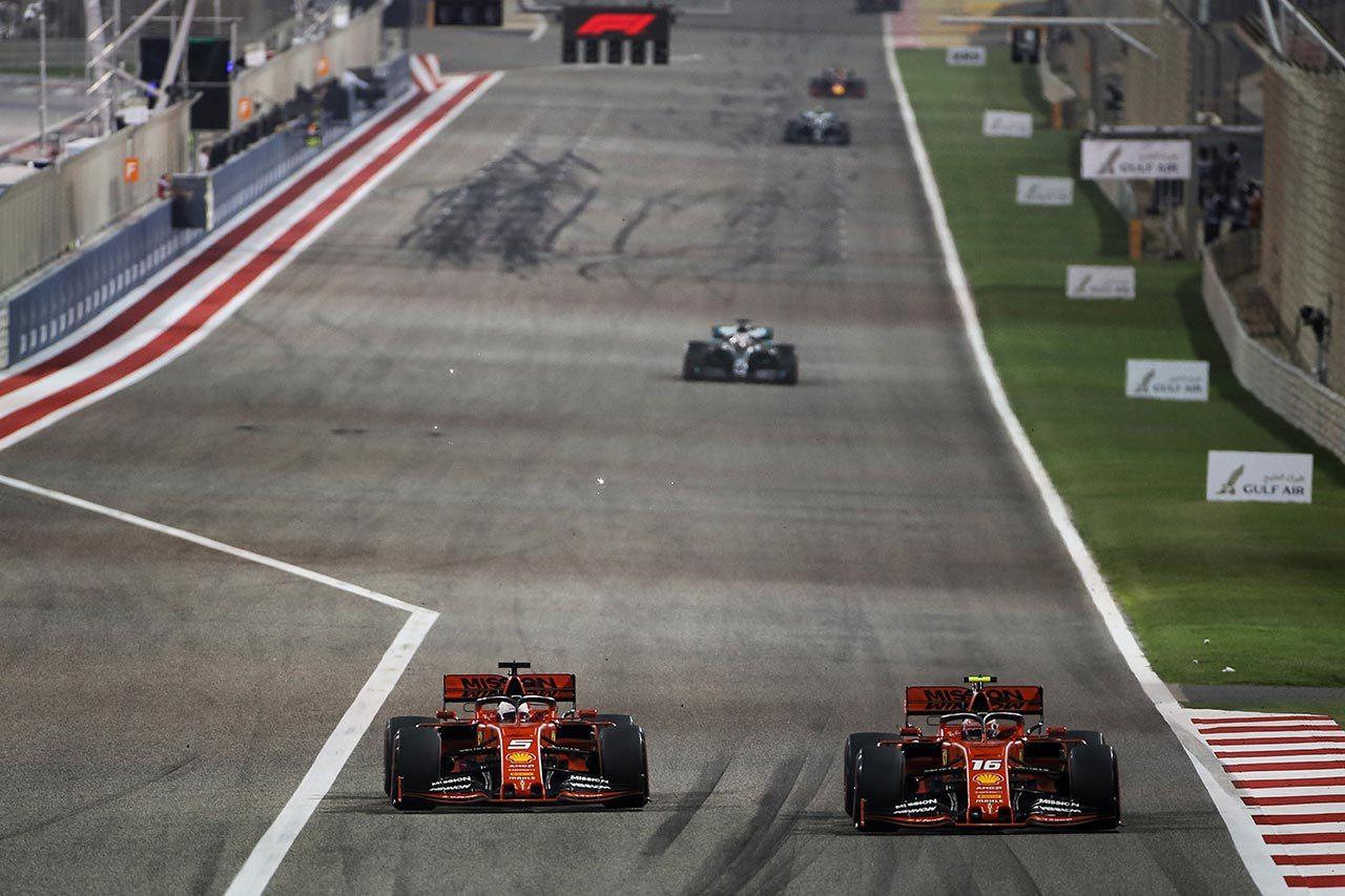 2019年F1第2戦バーレーンGP セバスチャン・ベッテル、シャルル・ルクレール(フェラーリ)
