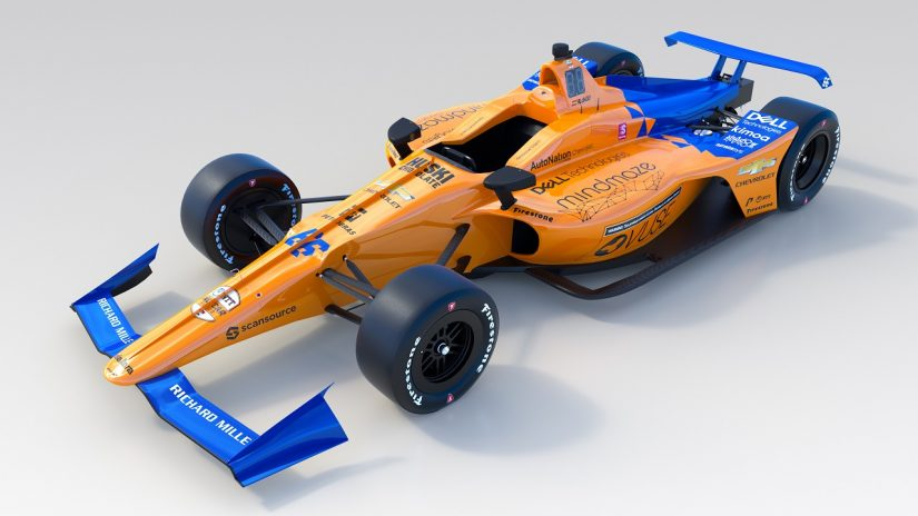 海外レース他 | アロンソが駆るインディ500マシンのカラーリングが初披露。マクラーレンは9日にプライベートテストを予定