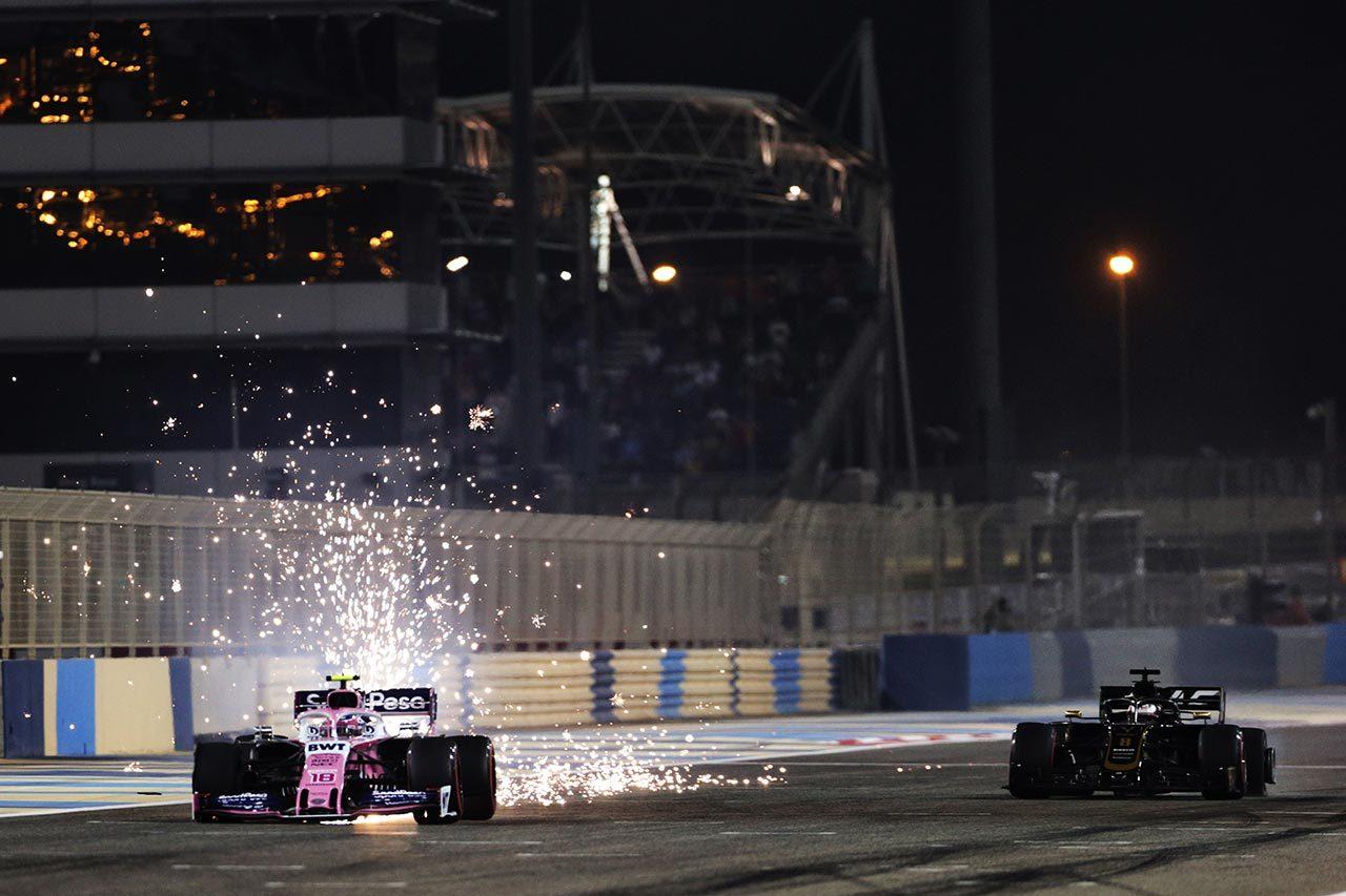 2019年F1第2戦バーレーンGP ランス・ストロール(レーシングポイント)、ロマン・グロージャン(ハース)
