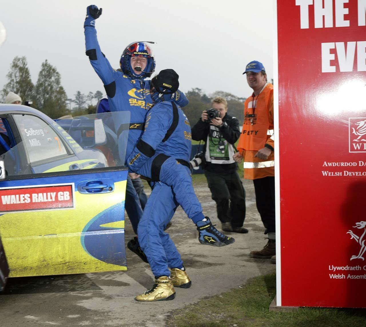 2003年のWRC最終戦でチャンピオンを手にしたペター・ソルベルグ