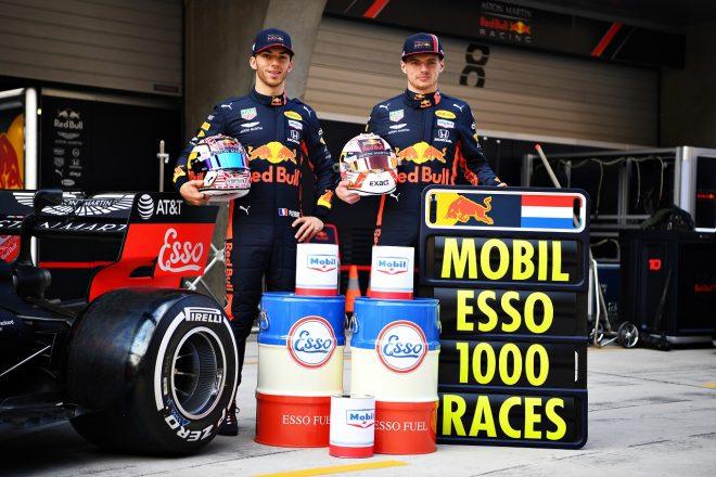 2019年F1第3戦中国GP マックス・フェルスタッペンとピエール・ガスリー(レッドブル・ホンダ)