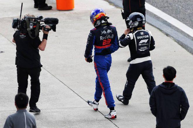 2019年F1第3戦中国GP アレクサンダー・アルボン(トロロッソ・ホンダ)がFP3で大クラッシュ