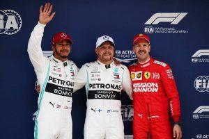 F1 | F1第3戦中国GP 予選:ボッタスがコンマ023秒の僅差で僚友を制しポール獲得。レッドブル・ホンダは2台ともQ3進出