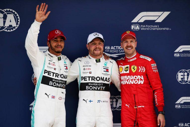 F1   F1第3戦中国GP 予選:ボッタスがコンマ023秒の僅差で僚友を制しポール獲得。レッドブル・ホンダは2台ともQ3進出