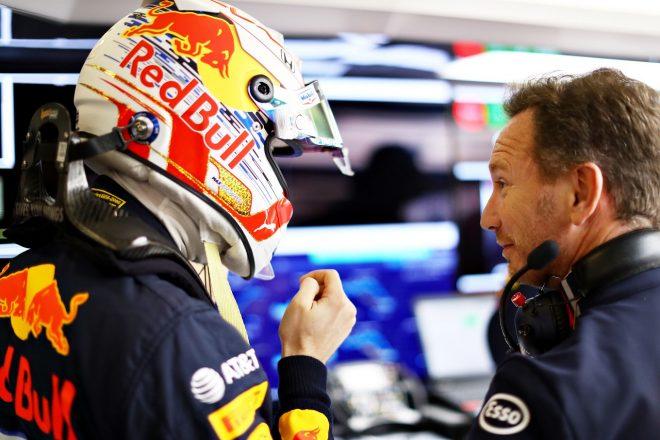2019年F1第3戦中国GP マックス・フェルスタッペンとチーム代表クリスチャン・ホーナー(レッドブル・ホンダ)