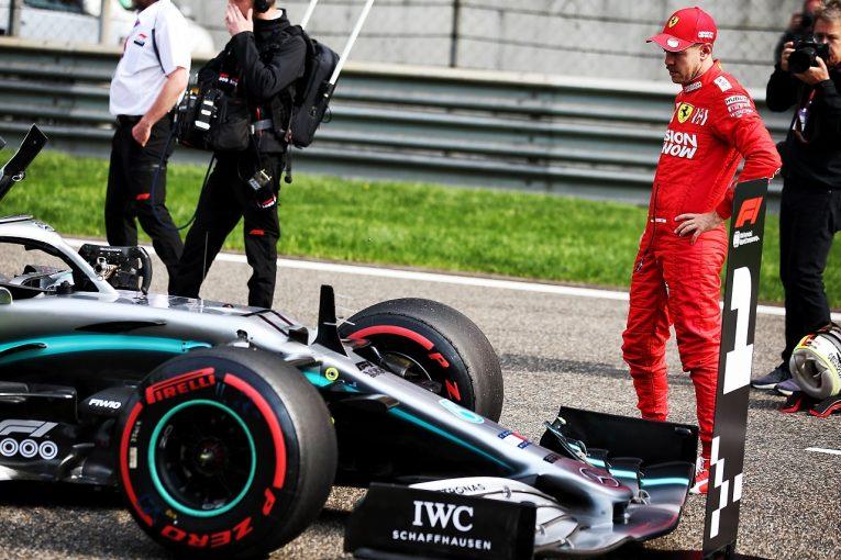 F1 | ベッテル「最後のアタックラップが間に合ってよかった。『あと10秒』と言われフェルスタッペンを抜くしかなかった」:フェラーリ F1中国GP土曜