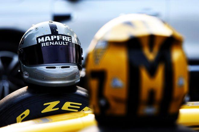 2019年F1第3戦中国GP ダニエル・リカルドとニコ・ヒュルケンベルグ(ルノー)のスペシャル仕様のヘルメット
