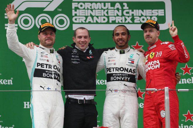 2019年F1第3戦中国GP 優勝はルイス・ハミルトン、2位:バルテリ・ボッタス、3位はセバスチャン・ベッテル