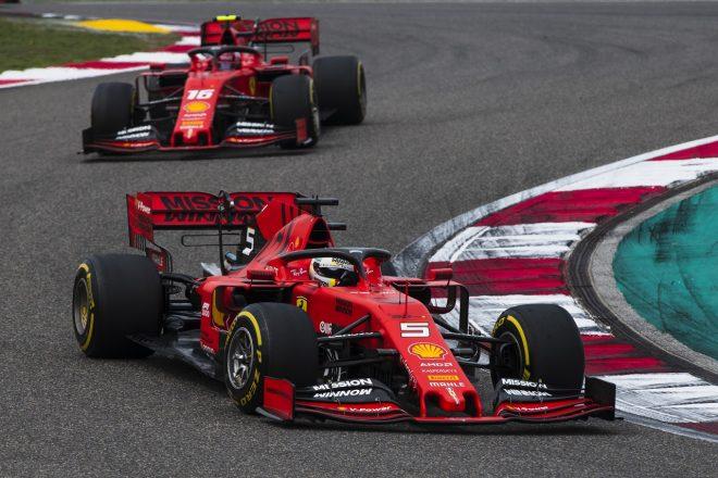 2019年F1第3戦中国GP セバスチャン・ベッテルとシャルル・ルクレール(フェラーリ)
