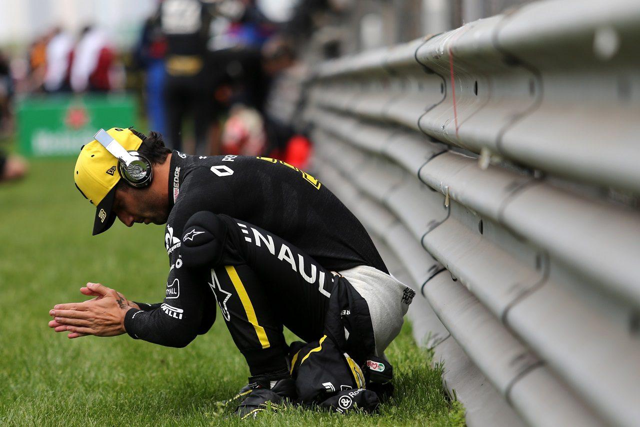 2019年F1第3戦中国GP 決勝前に集中力を高めるダニエル・リカルド(ルノー)