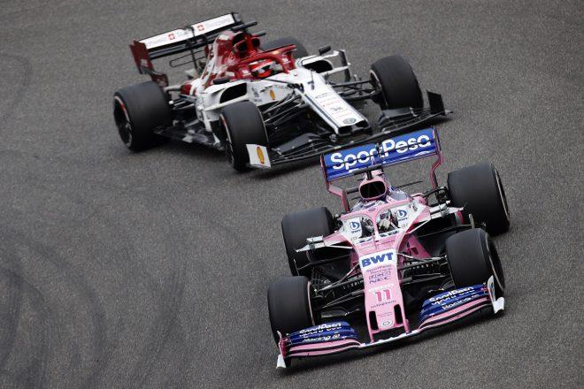 2019年F1第3戦中国GP セルジオ・ペレス(レーシングポイント)とキミ・ライコネン(アルファロメオ)のバトル
