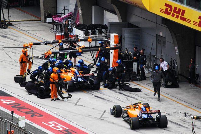 2019年F1中国GP カルロス・サインツJr.、ランド・ノリス(マクラーレン)