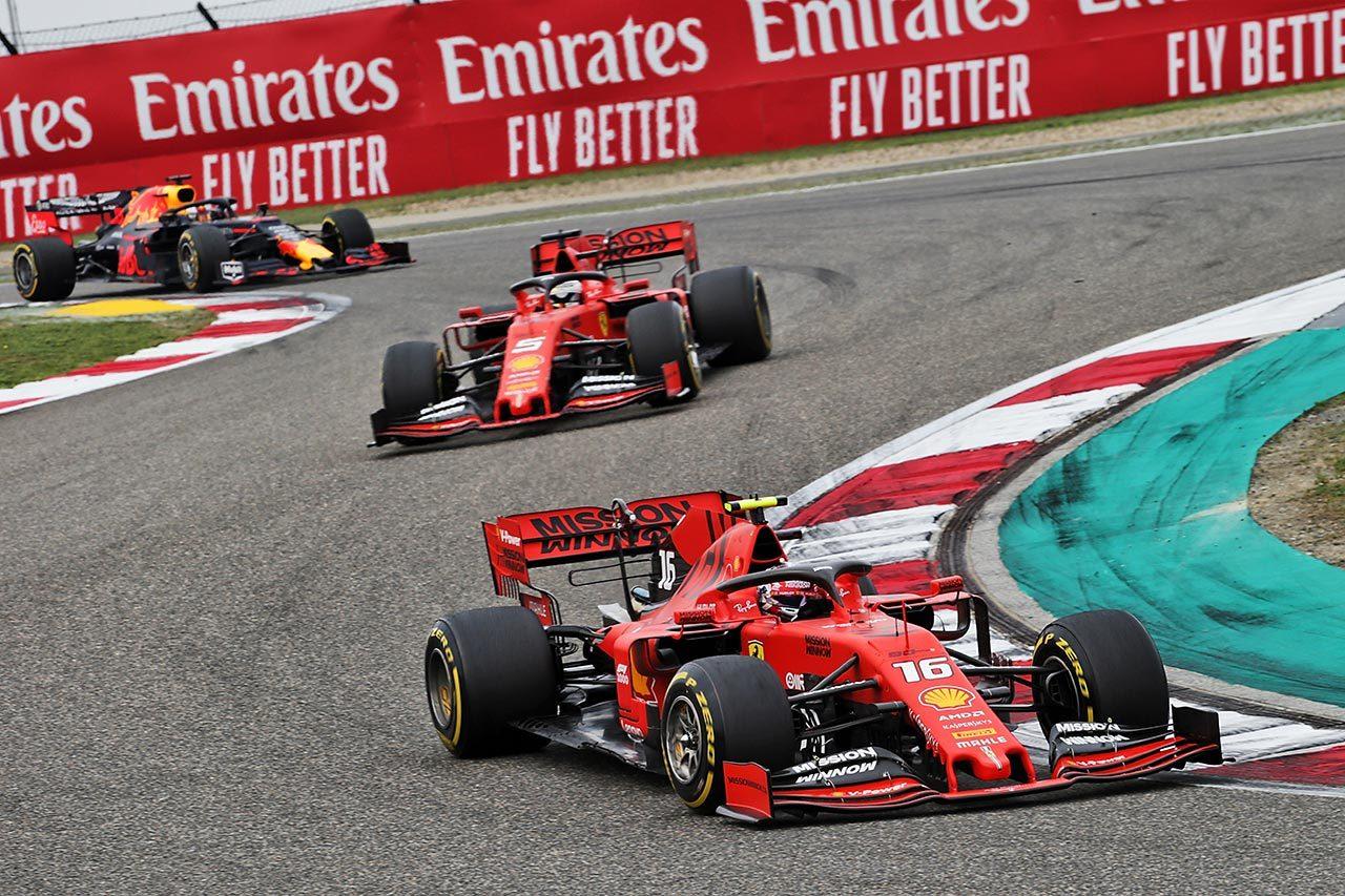 2019年F1第3戦中国GP シャルル・ルクレール, セバスチャン・ベッテル(フェラーリ)
