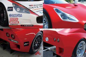 国内レース他 | eスポーツで使われる車両(右)は実車のkuruma(左)の設計データからモデリングされた