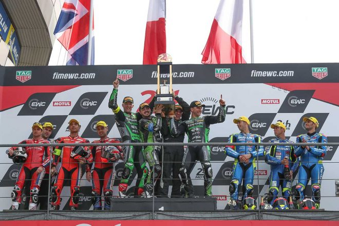 MotoGP | EWC第2戦ル・マン24時間、TSRホンダは転倒で2年連続優勝逃すも完走。優勝はSRCカワサキ・フランス